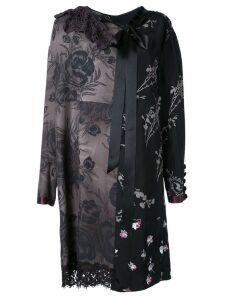 Marc Jacobs floral patchwork shift dress - Black