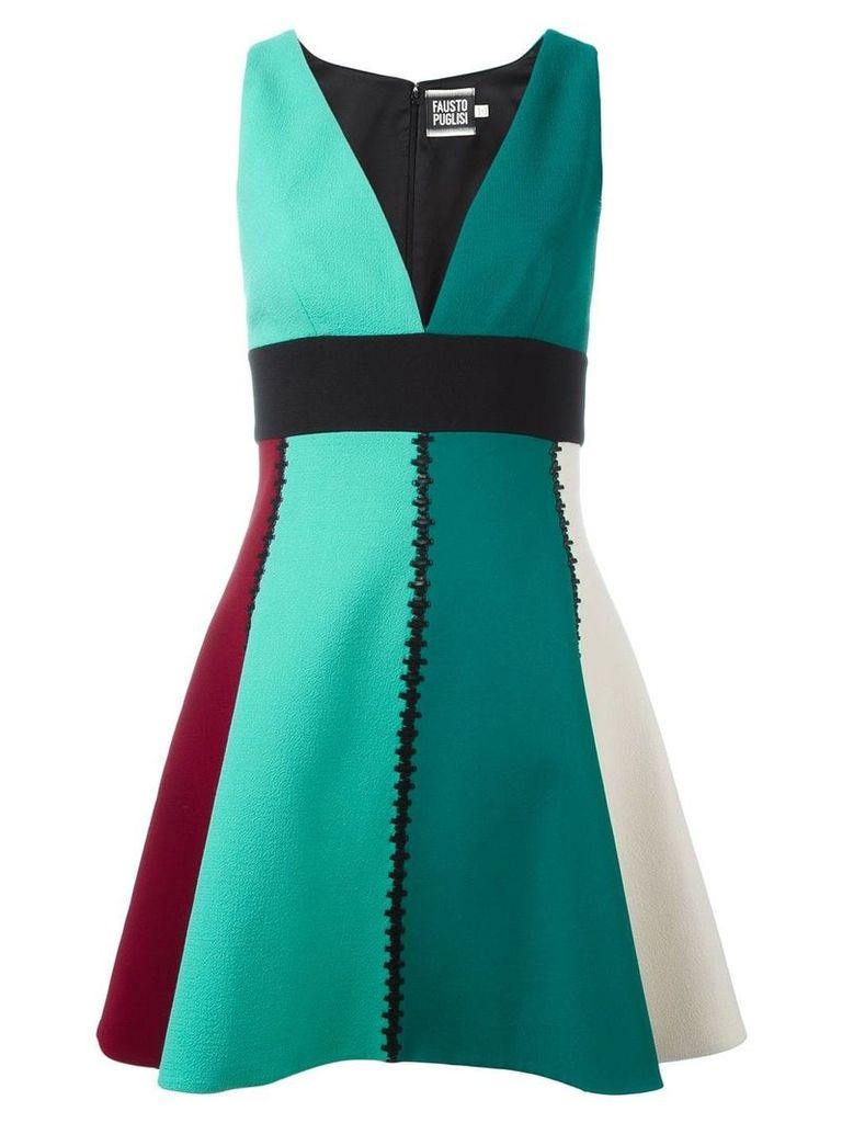 Fausto Puglisi v-neck dress - Green