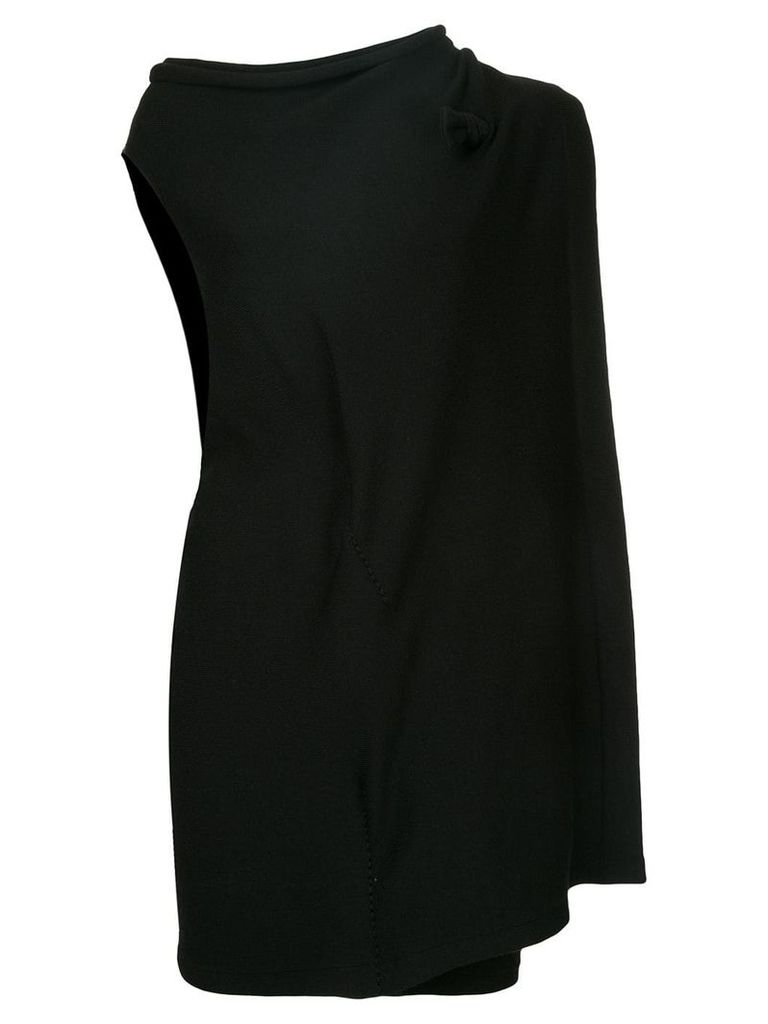 Yohji Yamamoto Vintage asymmetric layered dress - Black