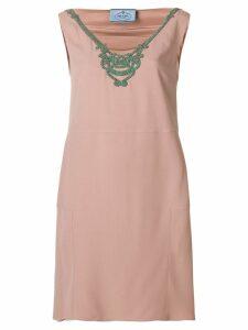 Prada embellished neck dress - PINK