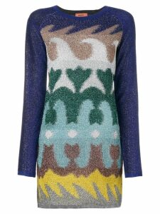 Missoni multi-printed fitted dress - Multicolour