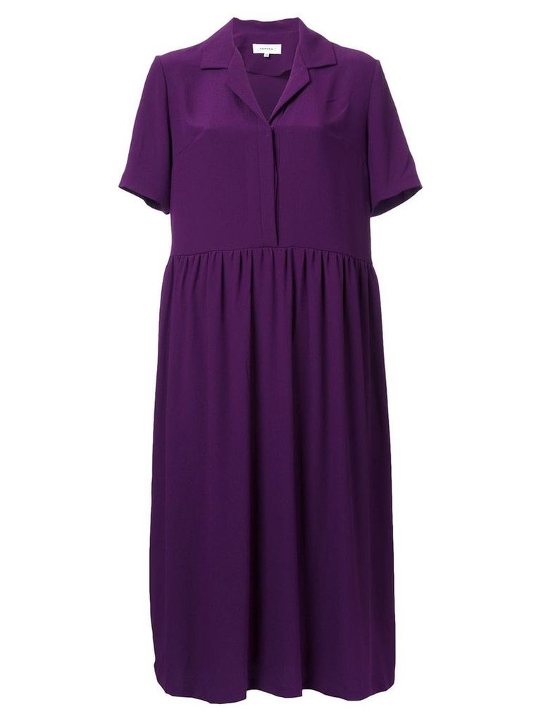 Carven v-neck shirt dress - Purple