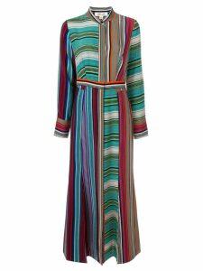 Dvf Diane Von Furstenberg striped long dress - Multicolour