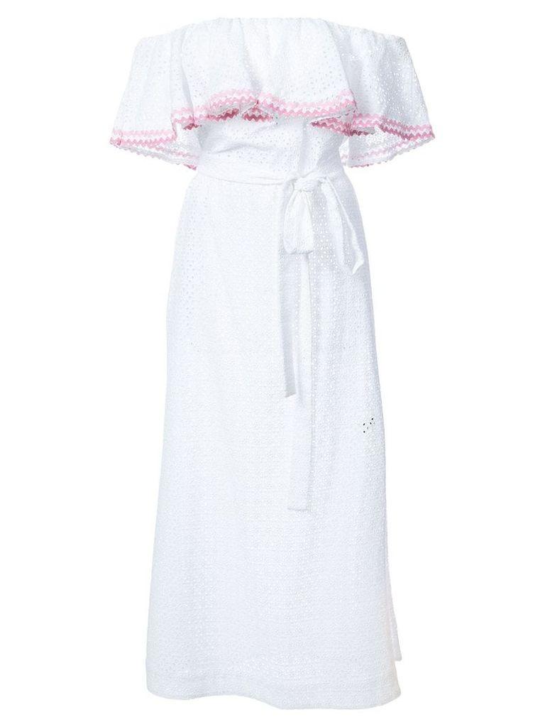 Lisa Marie Fernandez off shoulder dress - White