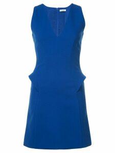 Mugler v-neck shift dress - Blue