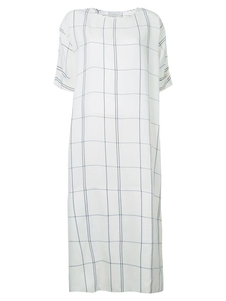 Studio Nicholson checked dress - White