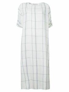 Studio Nicholson checked dress - White
