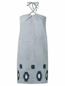 Yves Salomon Meteo Faidilla dress - Grey