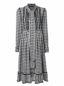 Ermanno Scervino gingham dress with frills - Multicolour