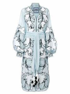 Yuliya Magdych Gooseberry embroidered dress - Blue