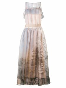 Fendi printed voile dress - Neutrals