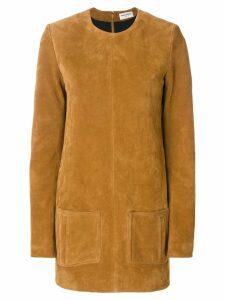 Saint Laurent textured short dress - Brown