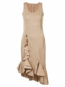 Givenchy sleeveless ruffle dress - Neutrals