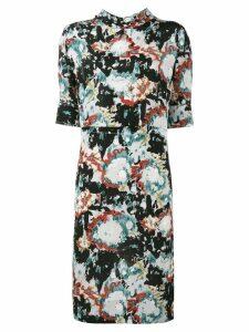 Marni printed tie neck dress - Multicolour