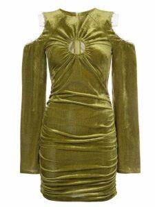 Neith Nyer slashed shoulder dress - Green