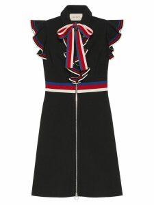 Gucci Sylvie Web stretch jersey dress - Black