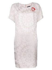 Cavalli Class stylised print dress - Neutrals
