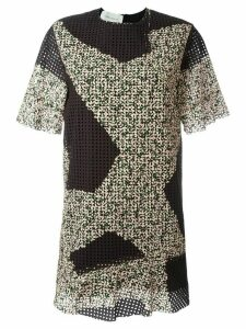 Cédric Charlier eyelet mini dress - Multicolour