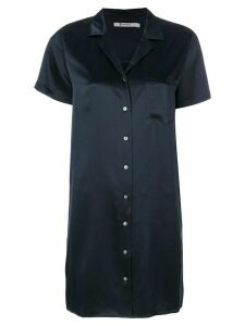 T By Alexander Wang silk shirt dress - Blue