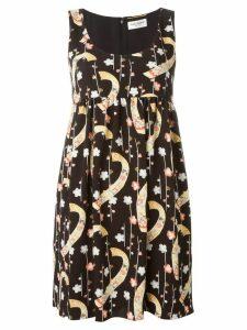 Saint Laurent sleeveless flared dress - Black