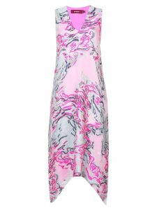 Sies Marjan embroidered print dress - White