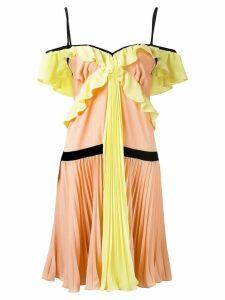 Marco Bologna crepe georgette pleated dress - Multicolour