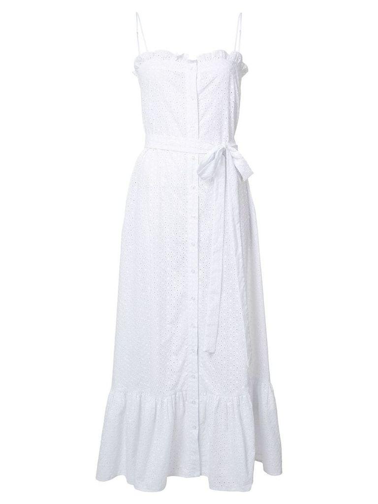 Lisa Marie Fernandez button up printed dress - White