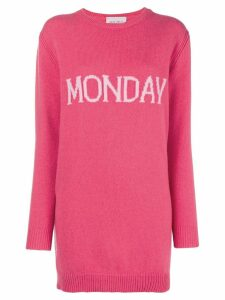 Alberta Ferretti Monday knit mini dress - Pink