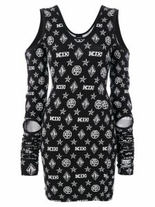 KTZ logo embroidered dress - Black