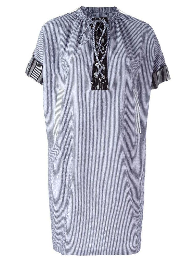 JW Anderson striped shift dress - Blue
