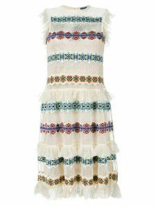 Alexander McQueen sheer embroidered dress - Neutrals