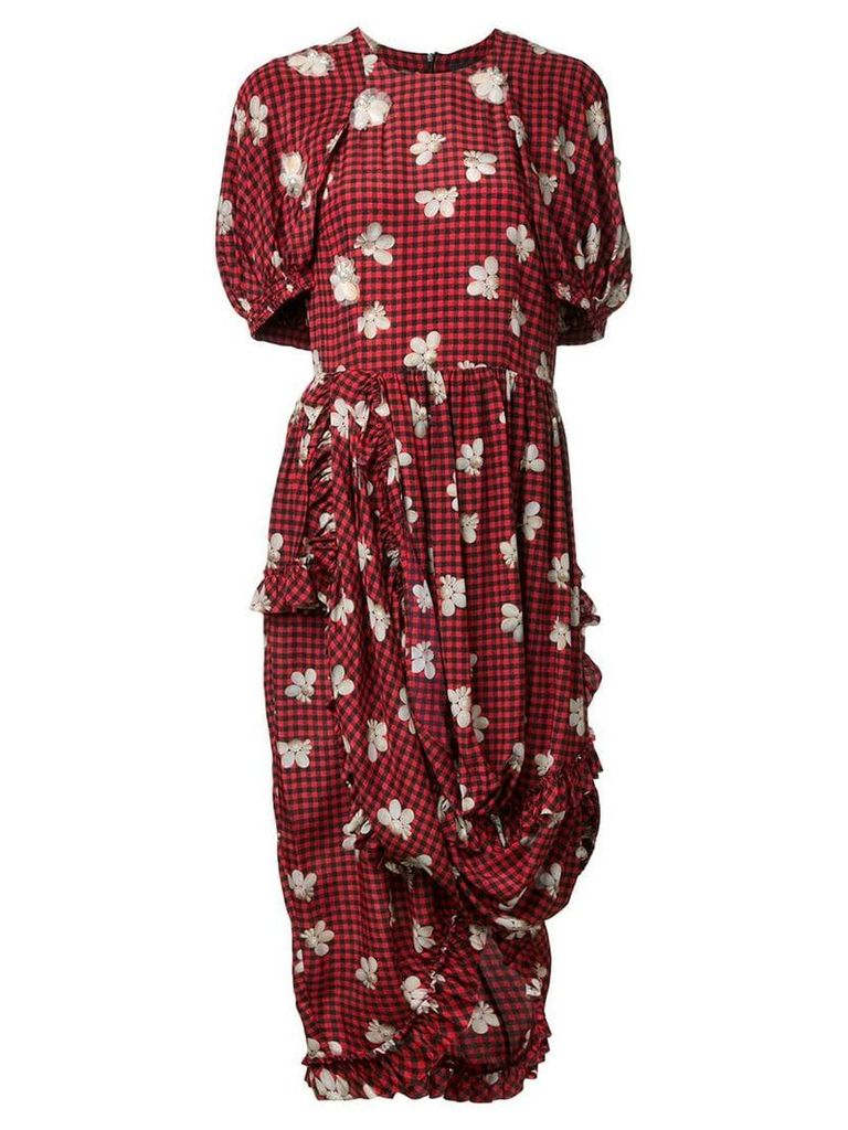 Simone Rocha floral print dress - Red