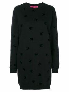 McQ Alexander McQueen swallow print dress - Black