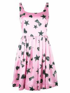 Moschino star print dress - Pink