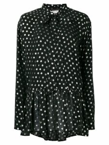 Saint Laurent lavaliere mini dress - Black