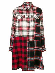 McQ Alexander McQueen tartan shirt dress - Black