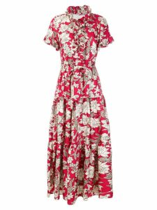 La Doublej Lilium printed dress - Red