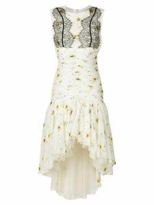 Giambattista Valli floral lace dress - White