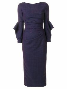 Talbot Runhof fitted midi dress - Blue