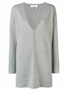Chloé V-neck sweater dress - Grey