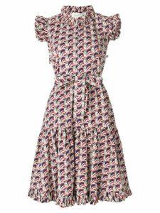 La Doublej ruffle print dress - Blue