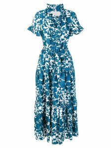 La Doublej Lilium printed dress - Blue