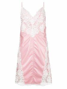 Calvin Klein 205W39nyc lace panel slip dress - Pink