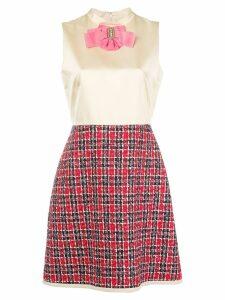 Gucci bow tweed skirt dress - NEUTRALS