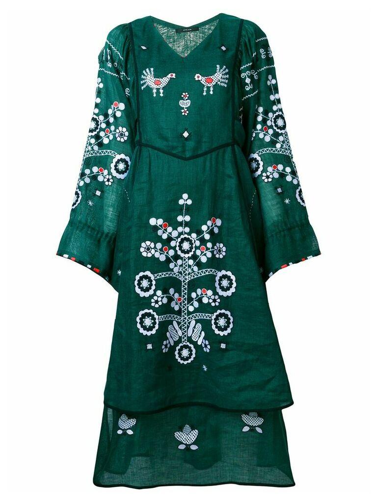 Vita Kin flared floral dress - Green