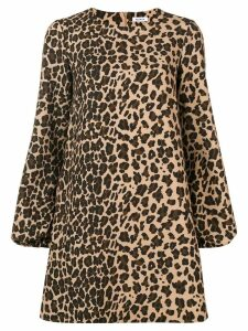 P.A.R.O.S.H. leopard print shift dress - Neutrals