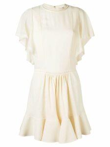 Chloé frilled flared dress - Neutrals