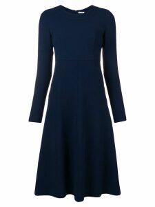 P.A.R.O.S.H. long sleeve flared dress - Blue