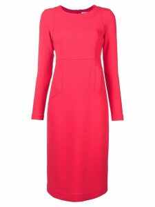 P.A.R.O.S.H. long sleeve flared dress - Pink