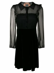 Nº21 ruffle trim mini dress - Black